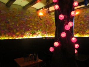 The Post-It bar, The Old Town
