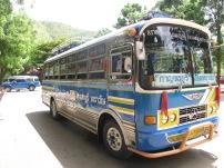 The bus from Kanchanaburi to Erawan