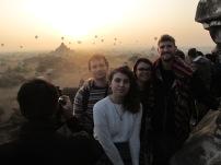 Group shout - Sunrise over Began