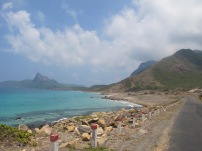 Driving around by motorbike on the island, finding beautiful remote beaches