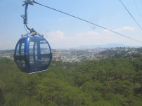 Views of Da Lat city from the cable car