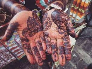 Humble henna'd hands